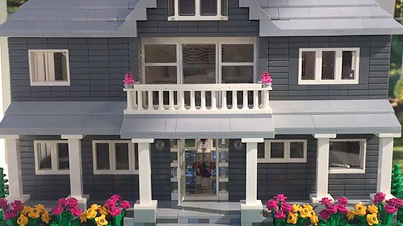 shari austrian fabrique réplique maison en Lego little       brick lane