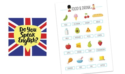 Affiche en anglais : Food & Drink