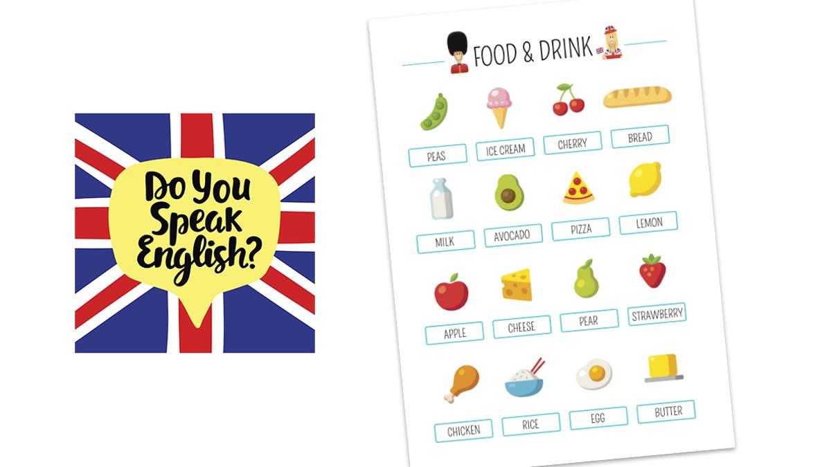 Affiche en anglais : Food & Drink