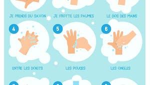 Affiche pour apprendre à se laver les mains