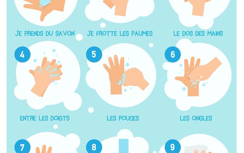 affiche se laver les mains
