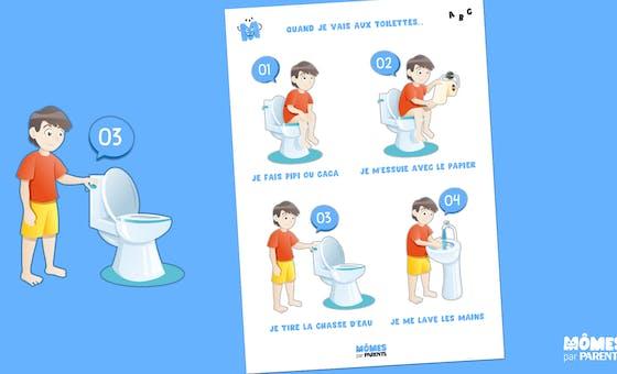 Affiche : Quand je vais aux toilettes...