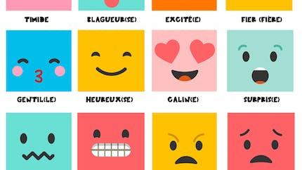"""Affiche sur les émotions """"Comment je me sens"""""""
