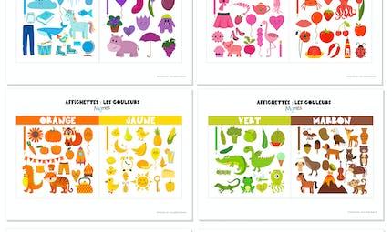 Affiches sur les couleurs