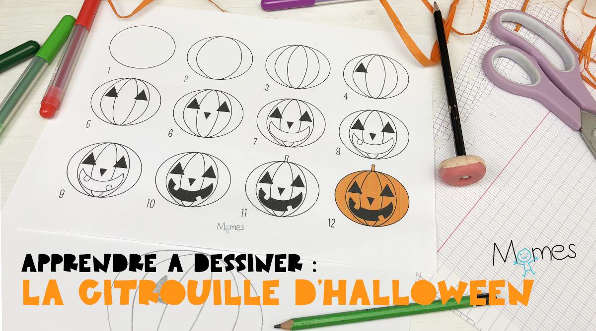 Apprendre A Dessiner La Citrouille D Halloween Momes Net