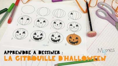 Apprendre à dessiner : La citrouille d'Halloween