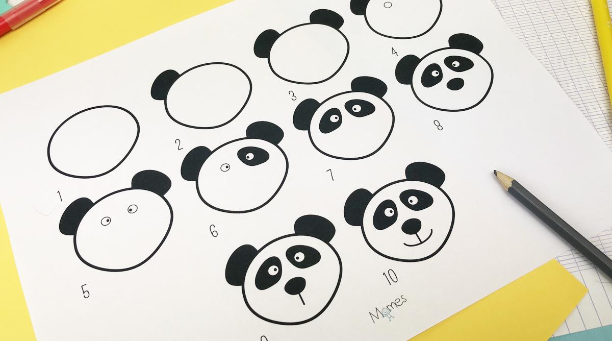 Apprendre A Dessiner Un Panda Momes Net