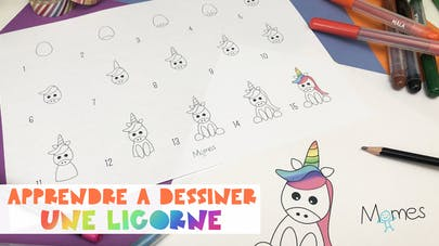 Apprendre A Dessiner Une Licorne Momes Net