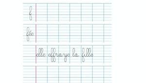 Apprendre à écrire la lettre f