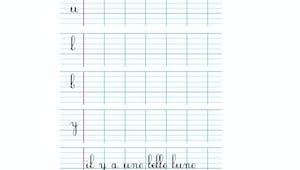 Apprendre à écrire les cursives minuscules i, u, l, b, y