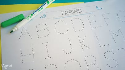 ecrire alphabet majuscule