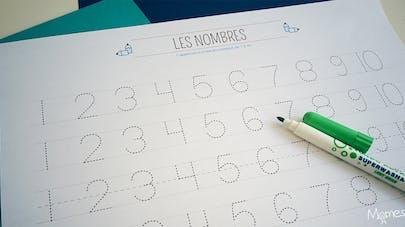 écrire les chiffres