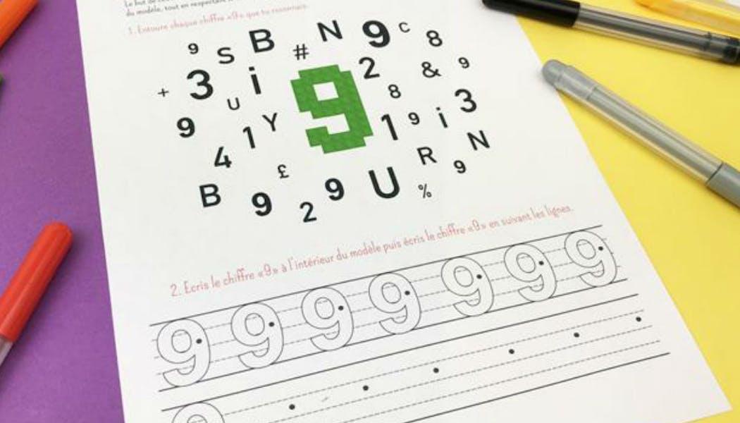 Apprendre : reconnaître et écrire le chiffre 9