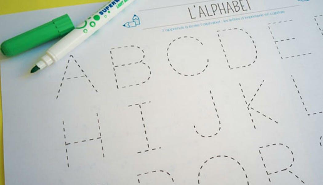 Apprendre : tracer les lettres de l'alphabet en       majuscule