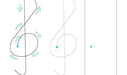 Apprendre à dessiner une clé de sol