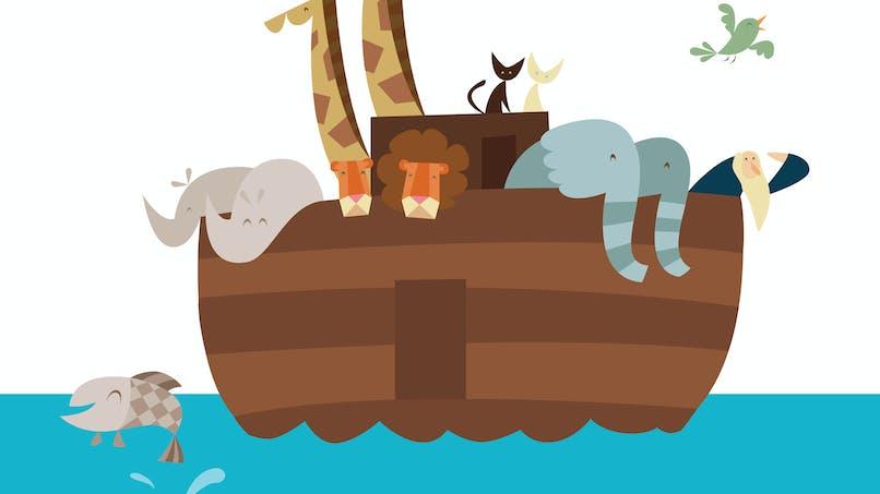 jeu de l'arche de Noé, animaux sur un bateau