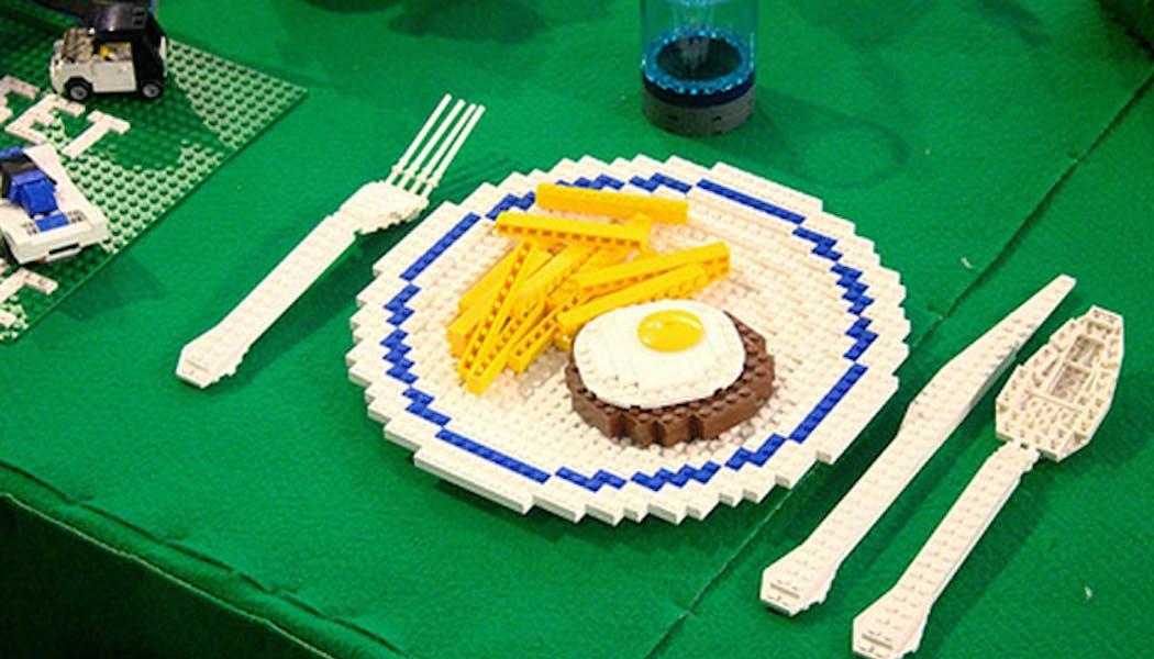 Assiette, couteau et fourchette LEGO