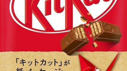 KitKat Nestlé nouveau emballage papier origami écologie       recyclable biodégradable réutilisable