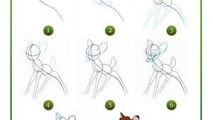 Bambi : dessine Bambi
