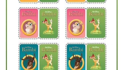 Bambi : jeu de memory 2