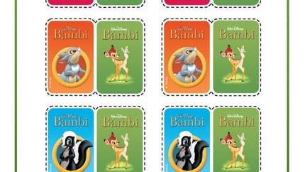 Bambi : jeu de memory