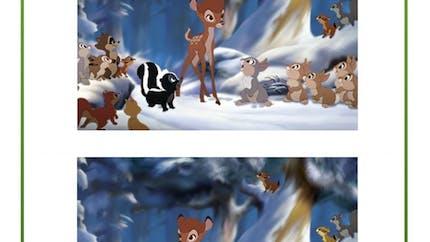 Bambi : jeu des 7 erreurs