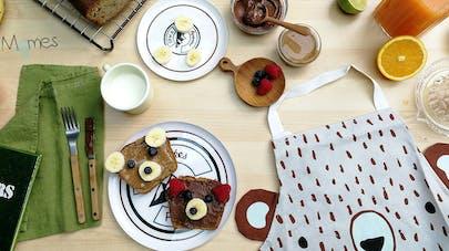 banana bread recette maison de momes pour un goûter ou       petite déjeuner enfant