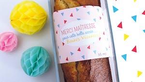 Bandeau pour cake Merci Maîtresse, Merci Maître ou Merci Nounou