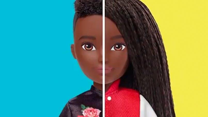 creatable world barbie non genrées neutres inclusives       mattel