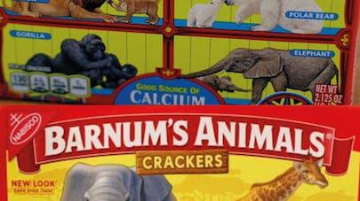 Barnum's Animals crackers libérés de leurs cages