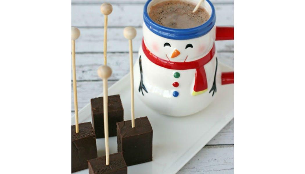 Bâtonnets de chocolat chaud