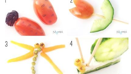 Les petits insectes en légumes