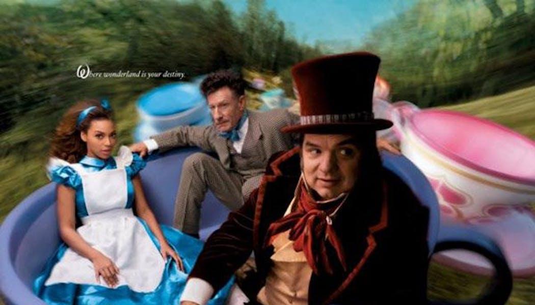 Beyonce, Lyle Lovett et Olivier Platt (Alice, le       Lièvre de Mars et le Chapelier fou dans Alice au Pays des       Merveilles)