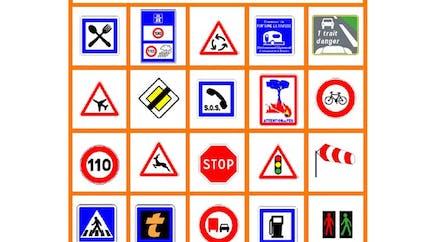 Bingo code la route à imprimer