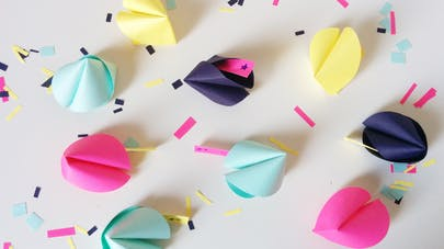 fortune cookies paper diy