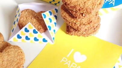 biscuits coeur miel et flocons d'avoine