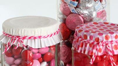 Bocal à bonbons bricolage