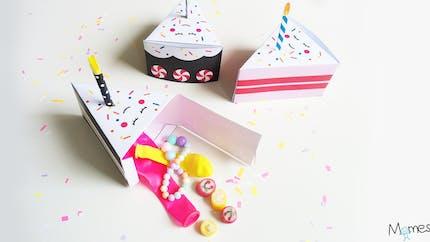 Boîte part de gâteau à imprimer