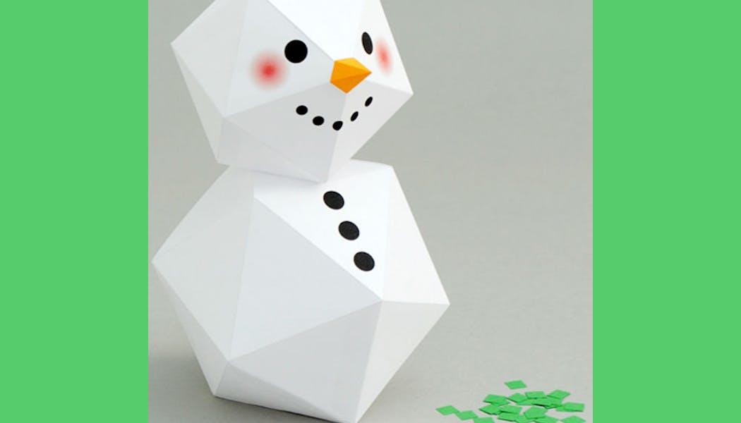 Bonhomme de neige géométrique