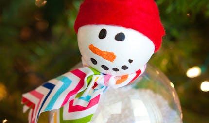 Boule de noël Bonhomme de neige