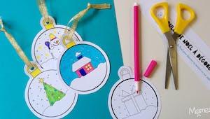 Boules Noël à colorier et imprimer