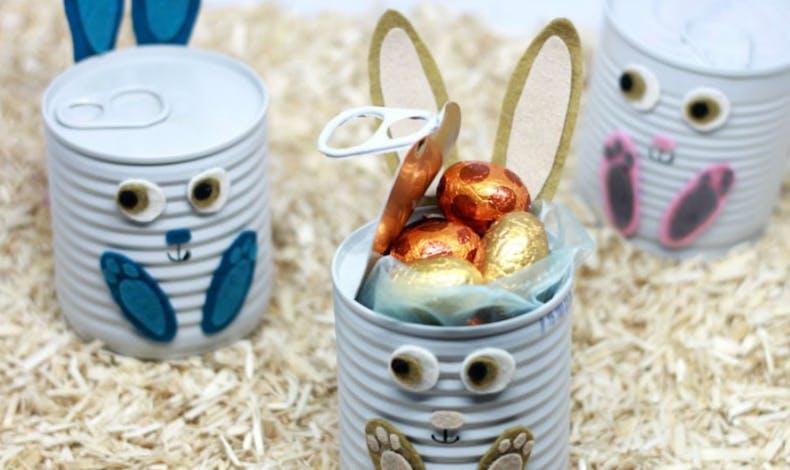 Bricolage : les lapins surprises récup'