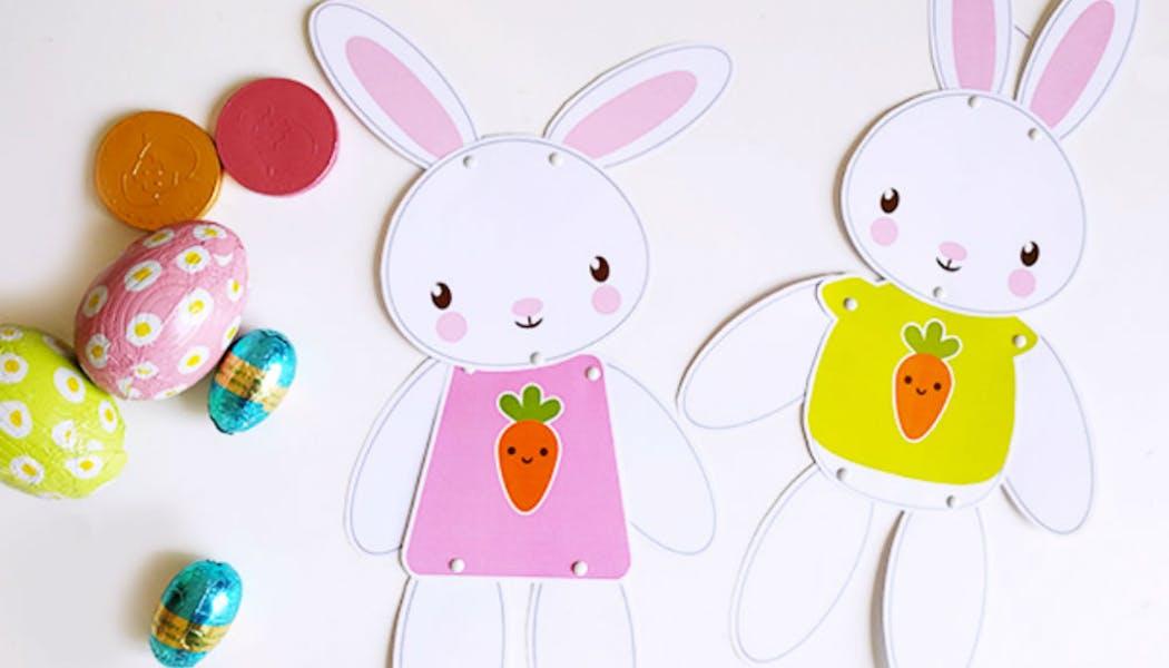 Bricolage : les pantins lapins