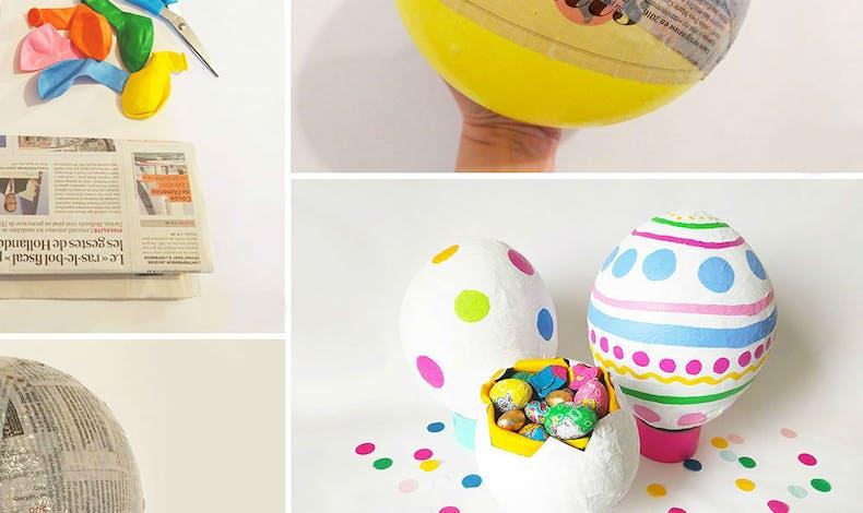 Bricolage : œuf de pâques en papier mâché