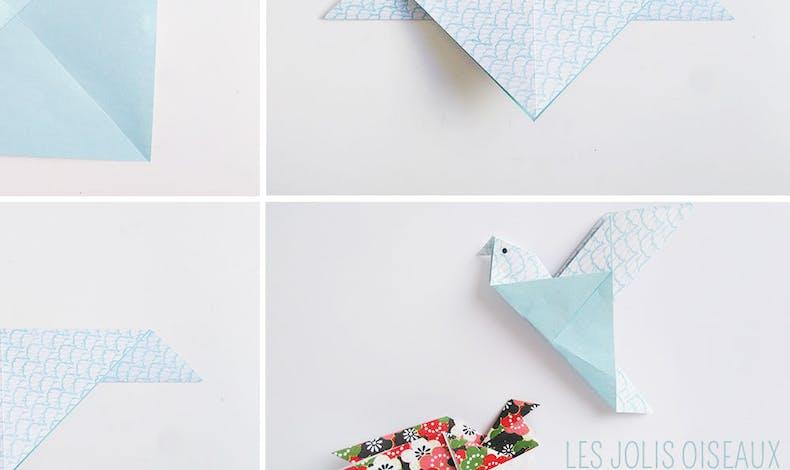 Bricolage : un oiseau en origami