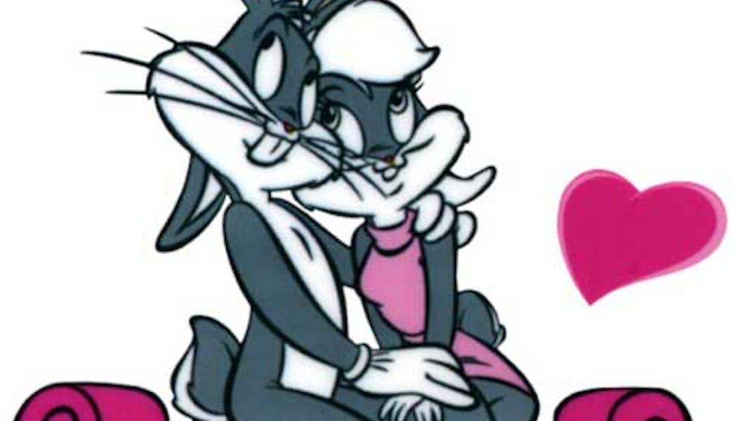 Bugs Bunny et Lola Bunny (Les Looney Tunes)