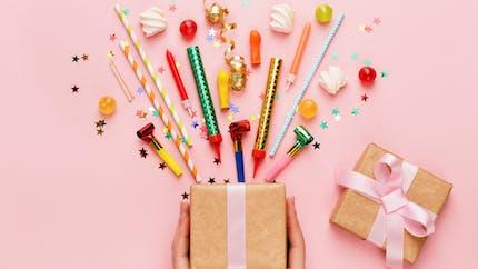 Cadeaux souvenir pour les invités de la fête d'anniversaire