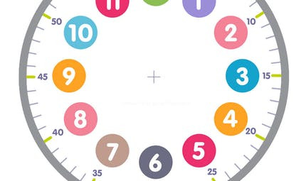 Cadran d'horloge à imprimer