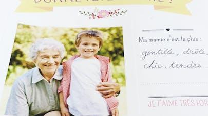 Cadre photo fêtes des grands-mères