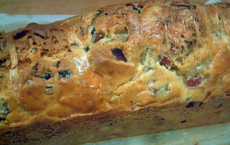 Cake au jambon et aux olives